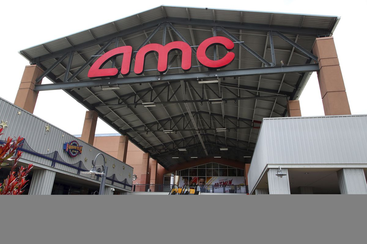 Entrance to AMC Bay Street 16 theater is seen on Wednesday, June 20, 2018, in Emeryville, Calif. AMC offers three different rewards programs.