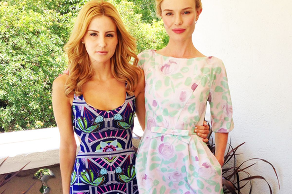 Style Thief founder Samantha Russ with Kate Bosworth.