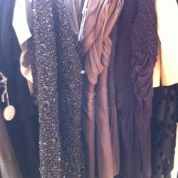 Close up of the pricey, but pretty dresses