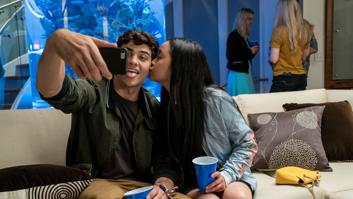 Lana Condor and Noah Centineo in All the Boys 1