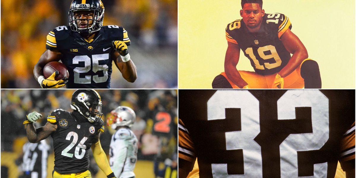 sale retailer 4f1c3 cc742 Steelers throwback uniform looks just like Iowa's: Photo of ...