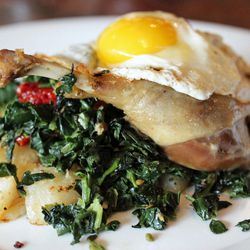 """Duck Leg Confit from The Strand Smokehouse by <a href=""""http://www.flickr.com/photos/bradleyhawks/8226715483/in/pool-eater"""">Amuse * Bouche</a>"""