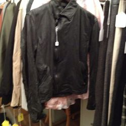 Women's leather jacket, $300