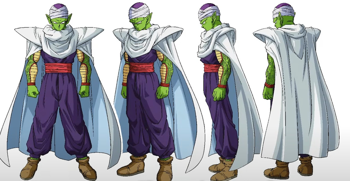 Piccolo's new look with the cape from Dragon Ball Super: Superhero