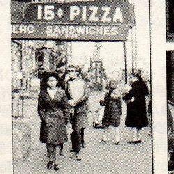 "15 cent pizza, 1965, Greenwich Village. <span class=""credit""> <a href=""http://ephemeralnewyork.wordpress.com/2008/05/page/2/"">[New Inside Guide to Greenwich Village]</a></span>"