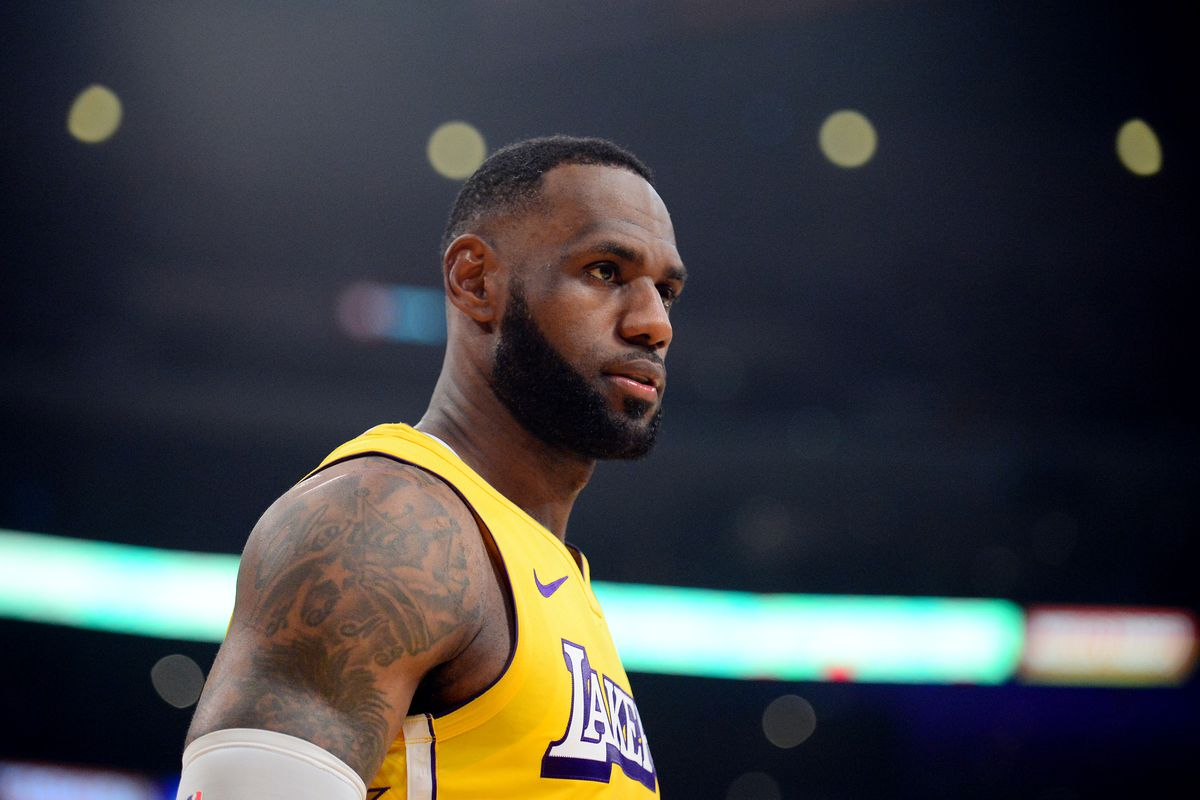 Los Angeles Lakers forward LeBron James against the Los Angeles Clippers during the first half at Staples Center.