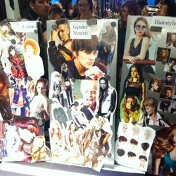 We found the color theory booth most insightful. Takeaways: Bold hues are in, as is androgynous fashion and coifs