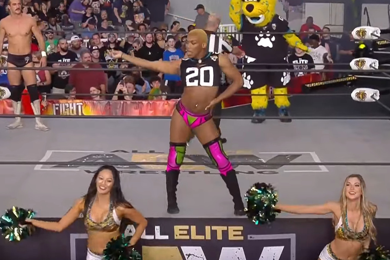 Gay wrestler Sonny Kiss roars onto AEW stage at Fight For The Fallen