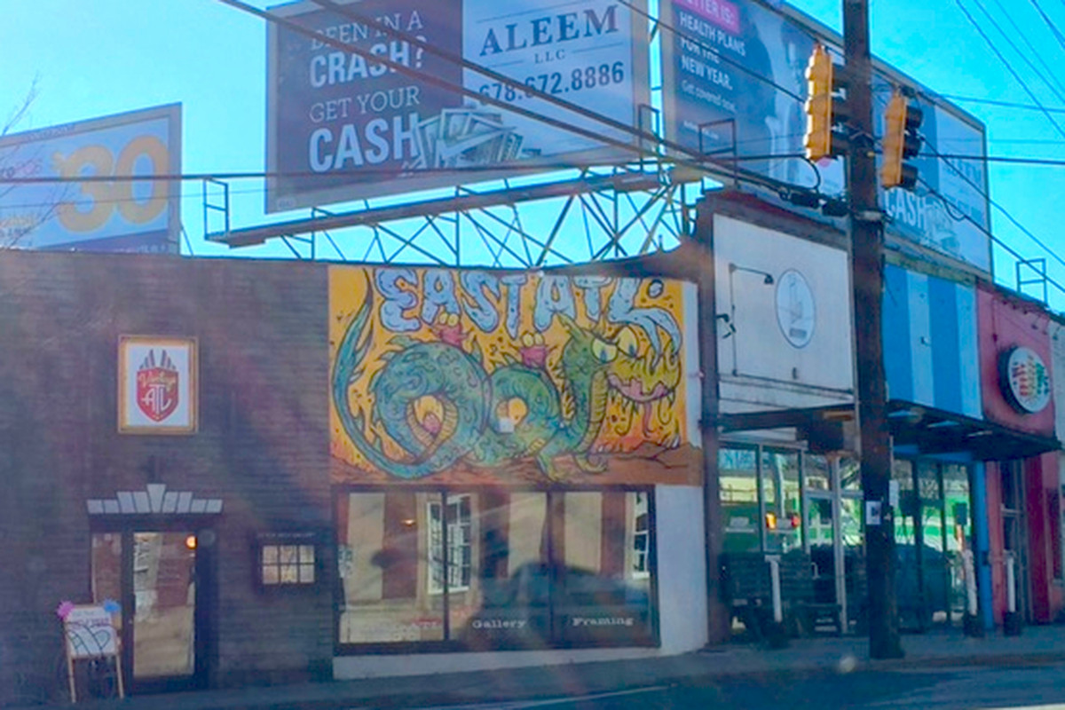The middle of East Atlanta Village in Atlanta.