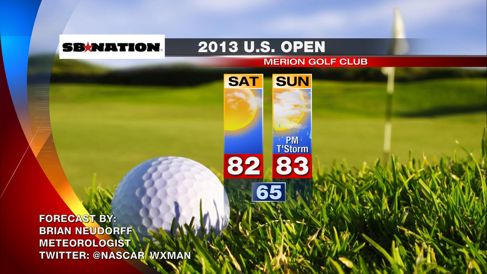 2013 u s  open golf weather  beautiful weather for round 3
