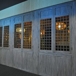 Windows of the rear dining room.