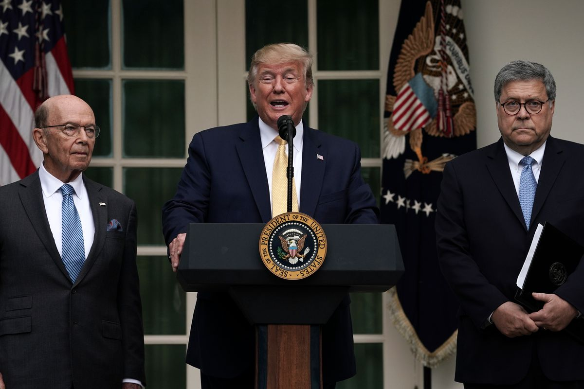 President Trump Holds News Conference In Rose Garden On Census And Citzenship