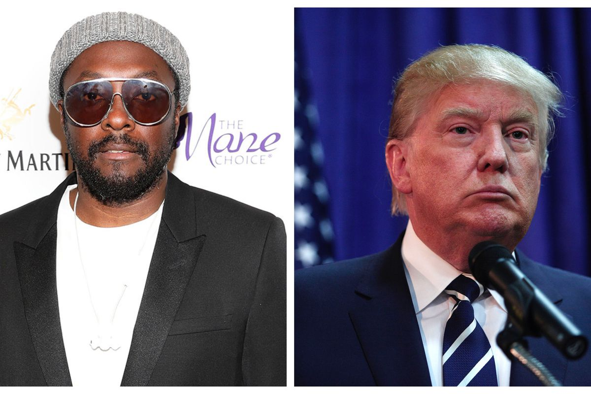 Will.i.am and Donald Trump