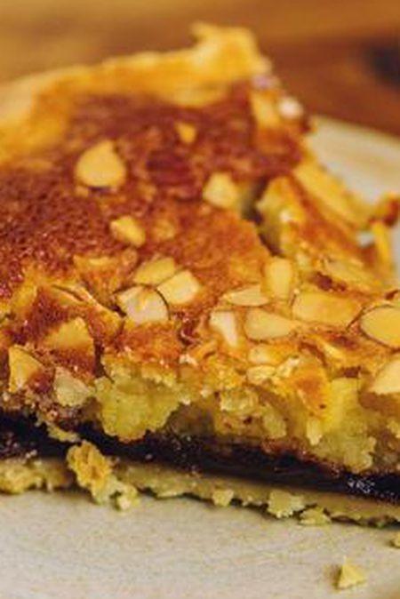 Black bottom chocolate almond chess pie at Petee's