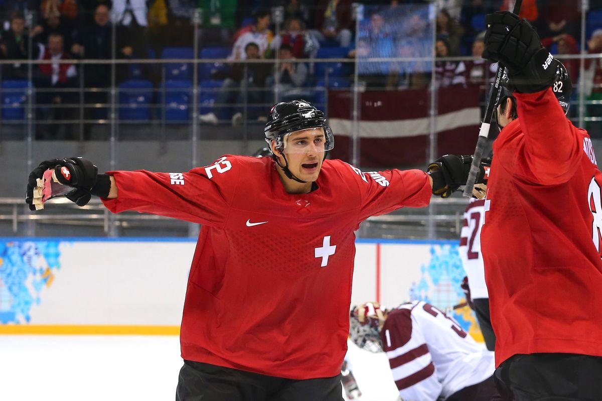 Ice Hockey - Winter Olympics Day 5 - Latvia v Switzerland