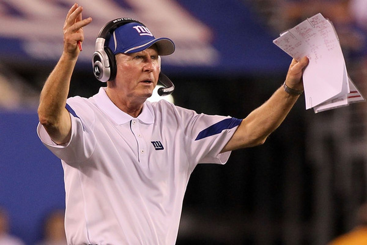 New York Giants coach <strong>Tom Coughlin</strong>. (Photo by Jim McIsaac/Getty Images)