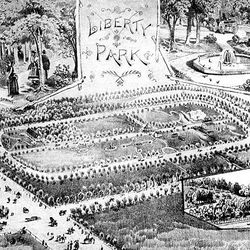 Liberty Park as it looked in the 1890s.
