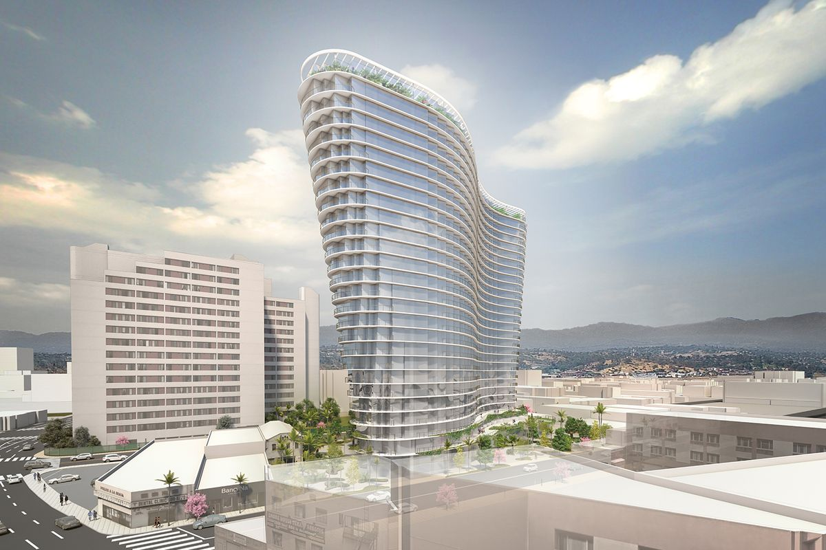 Studio Gang Unveils Its First Los Angeles Project A Wavy 26 Story Tower In Chinatown