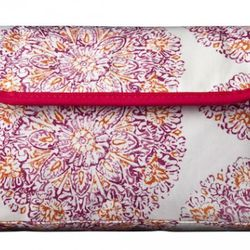Foldover Clutch in Coral Medallion Print $12.99