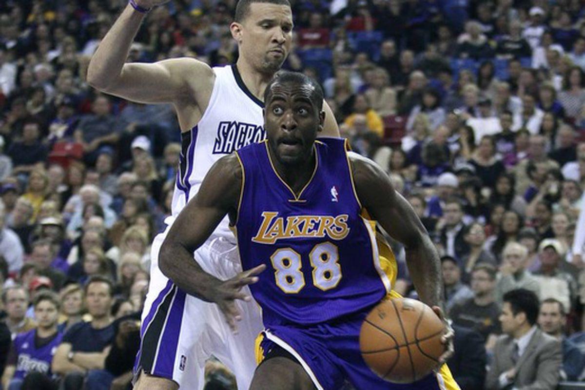 Christian Eyenga as a member of the Los Angeles Lakers
