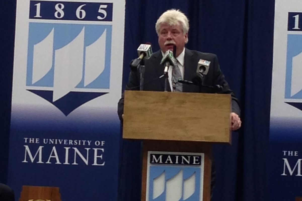 Red Gendron is the new head hockey coach at the University of Maine.