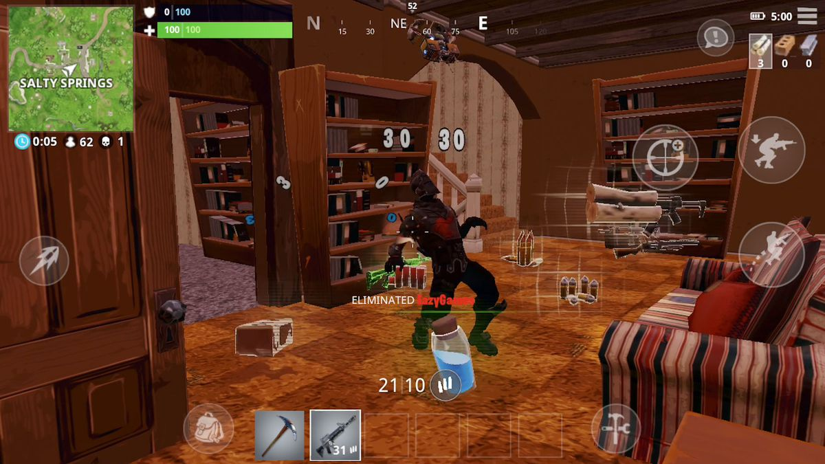 fortnite ios getting a kill in a room - fortnite ios apk