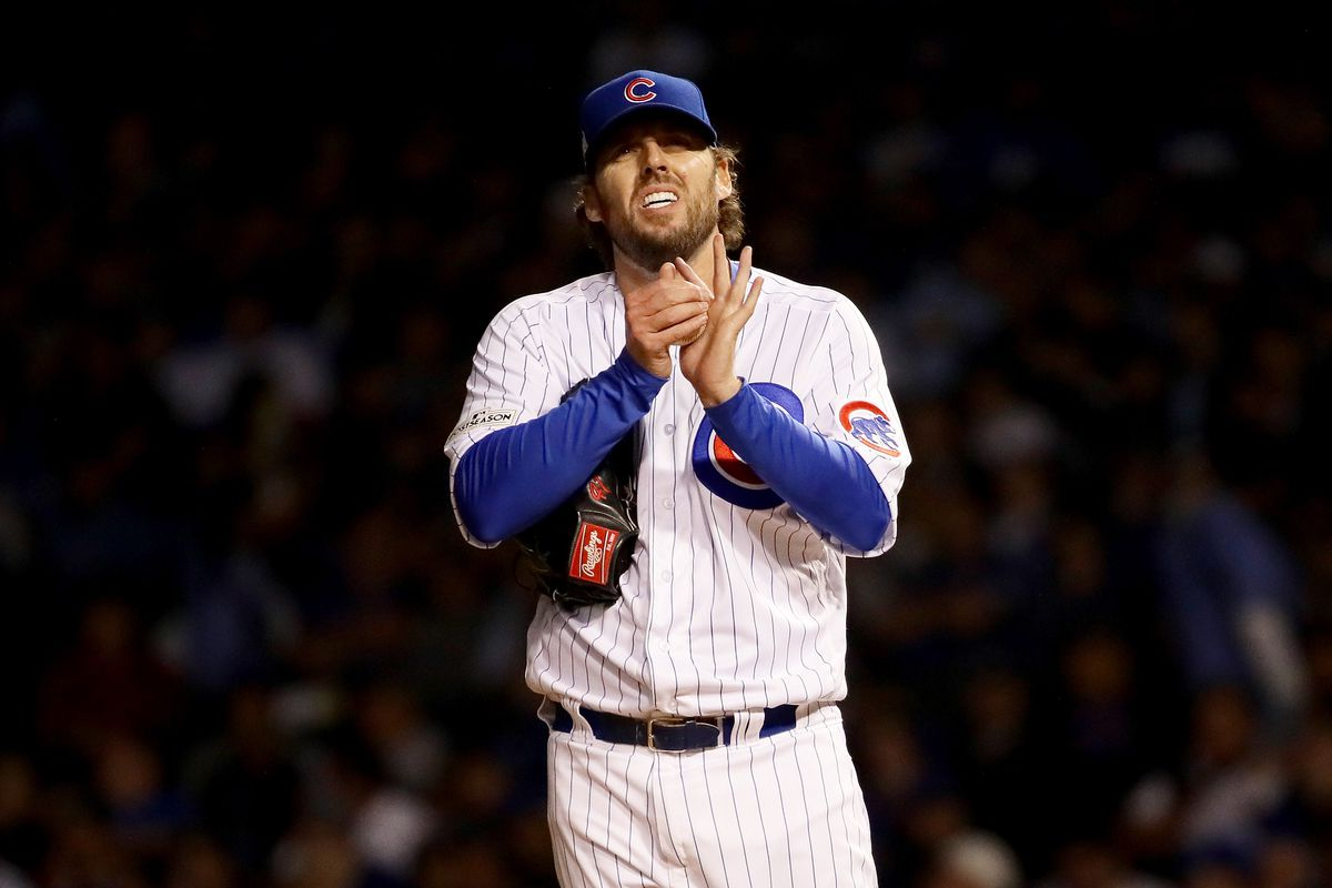 John Lackey during the 2017 National League Championship Series against the Dodgers.