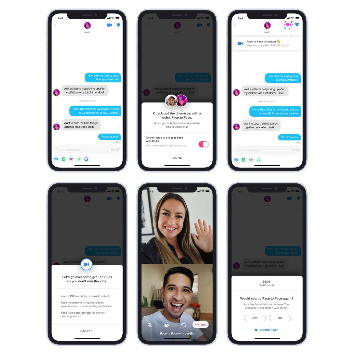 This Is Tinder S New Video Chat Feature Face To Face The Verge