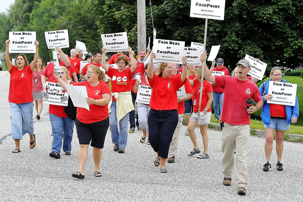 This is a group of union members. They are a dying breed.