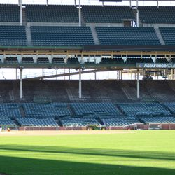 1:01 p.m. One last view inside the ballpark at Gate Q -