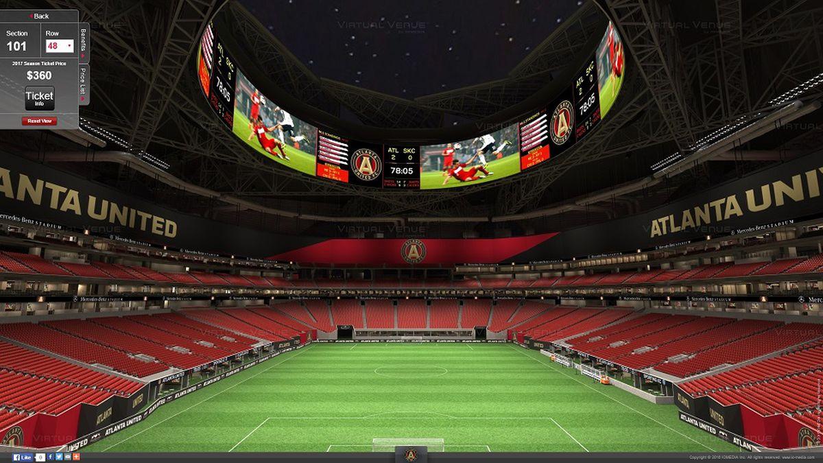 Atlanta United's Virtual Venue Seating for Mercedes-Benz ...