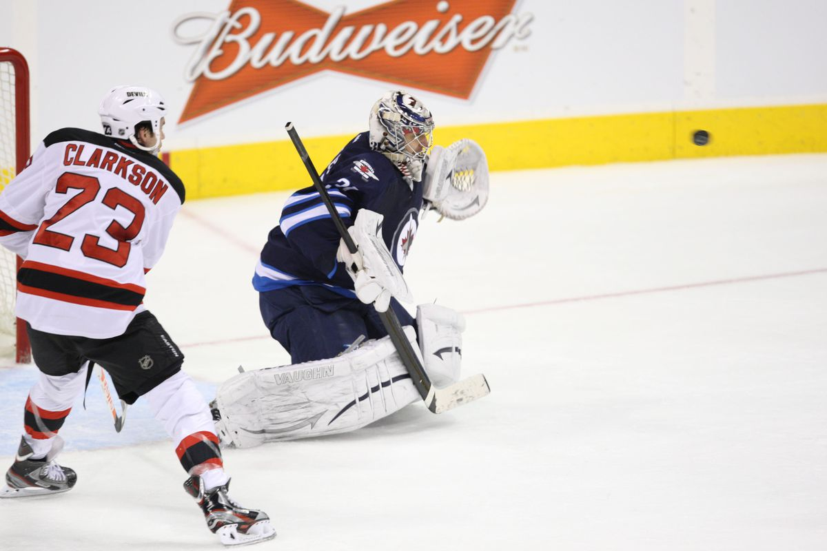 The Devils tried, they really did, but they couldn't get more than one past Ondrej Pavalec.