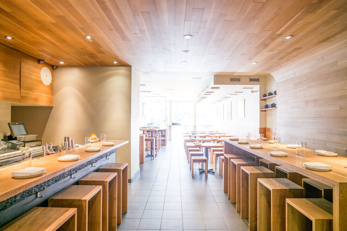 Inside Nishi's dining space