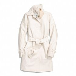 """<a href=""""http://f.curbed.cc/f/Coach_031014_Trench"""">Classic Twill Getaway Trench in Stone</a>, $458"""
