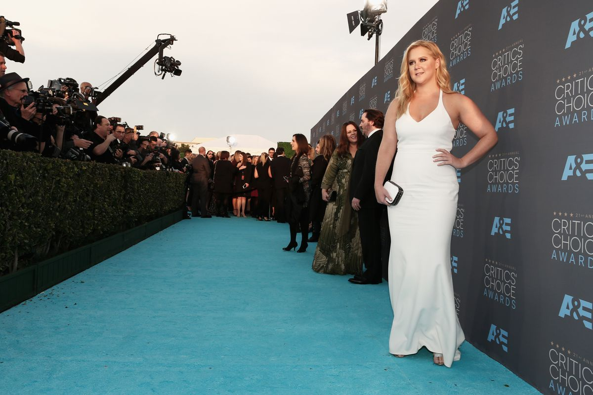 Actress Amy Schumer attends the 21st Annual Critics' Choice Awards at Barker Hangar on January 17, 2016, in Santa Monica, California. (Photo by Christopher Polk/Getty Images for The Critics' Choice Awards)