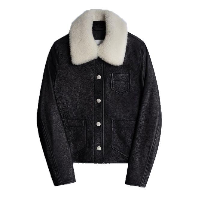 shearling collar jacket