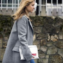 Blogger Pernille Teisbaek en route to the Loewe show.