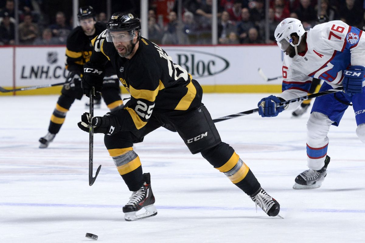 New dad Max Talbot surges up ice.