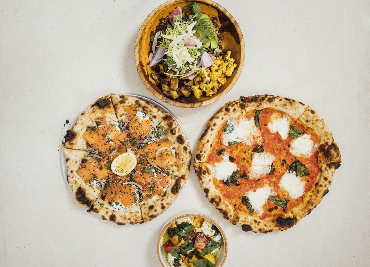 Pizzas and more from Great White Larchmont.