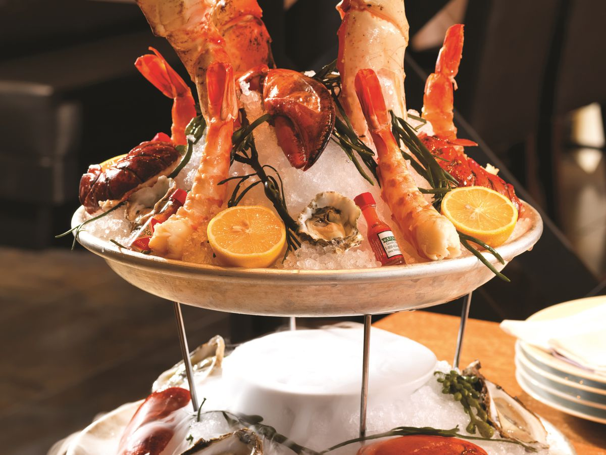 The seafood tower at Old Homestead