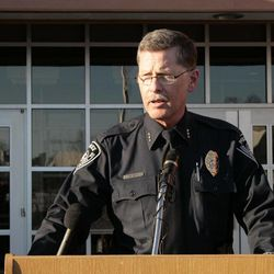 Anchorage Police Chief Mark Mew addresses a news conference in Anchorage, Alaska, on Monday, April 2, 2012. Mew announced that police believe they recovered body of Samantha Koenig, 18, from a lake north of Anchorage. Koenig has been missing since Feb. 1, 2012, last seen on surveillance tape being led away from the coffee shack by what appeared to be an armed man.