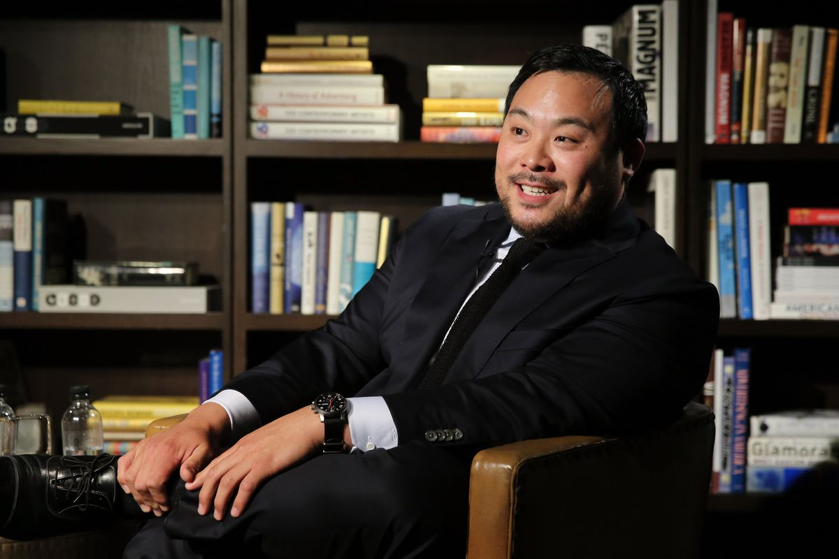 NEW YORK, NY - JUNE 09:  Chef and entrepreneur David Chang attends the GQ+A, an evening of conversation and Inspiration with GQ Editor-At-Large, Michael Hainey, powered by Montblanc at Neuehouse on June 9, 2015 in New York City.  (Photo by Neilson Barnard/Getty Images for GQ)