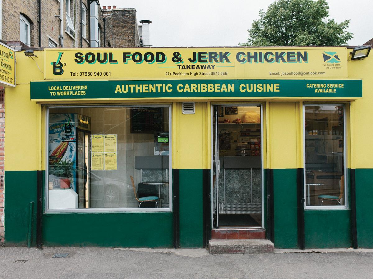 London's best Caribbean jerk: JB's Soul Food & Jerk Chicken restaurant on Peckham High Street