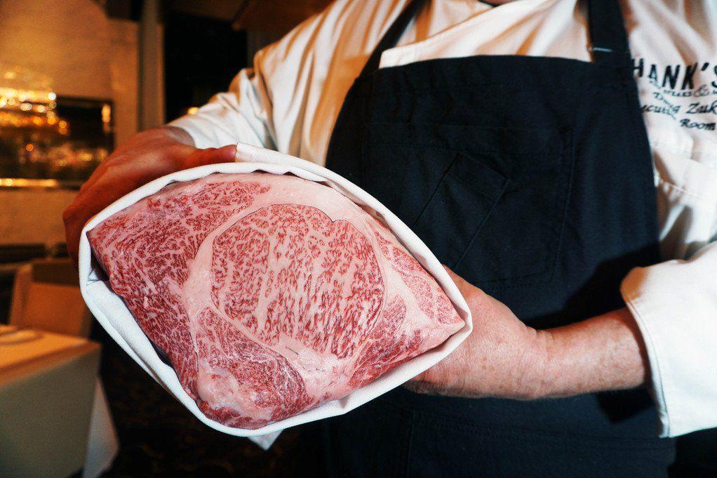 Kobe beef at Hank's Fine Steaks & Martinis