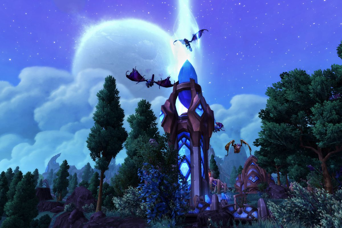 World of Warcraft: Warlords of Draenor - crystal tower in Shadow Moon Valley