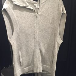 Cashmere zip-up, size large, $159 (from $495)