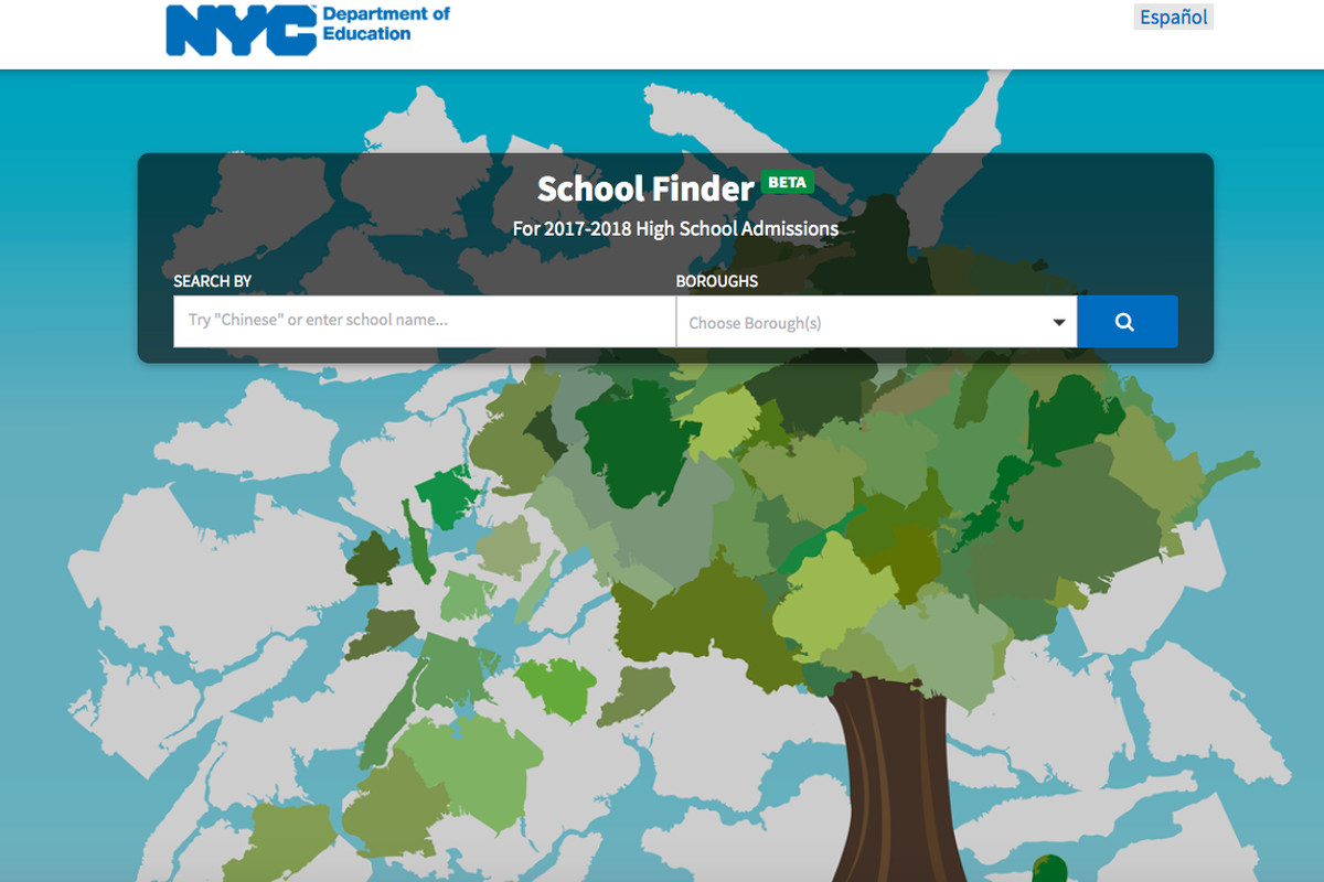 """""""School Finder"""" is the Department of Education's new, interactive high school directory."""