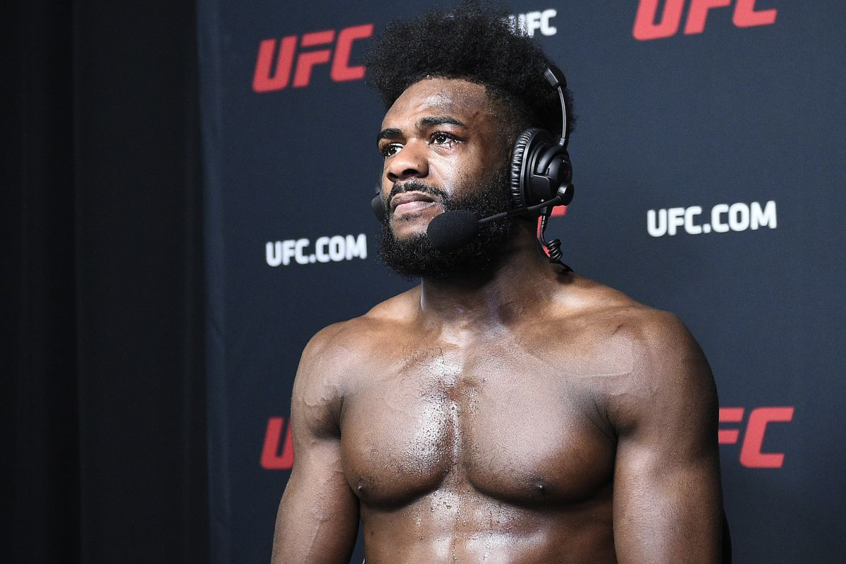Aljamain Sterling during his post-fight interview at UFC 259.