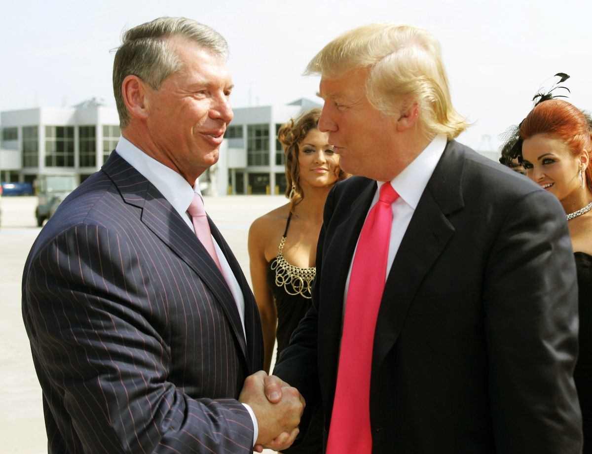 Donald Trump & VInce McMahon Make WWE History