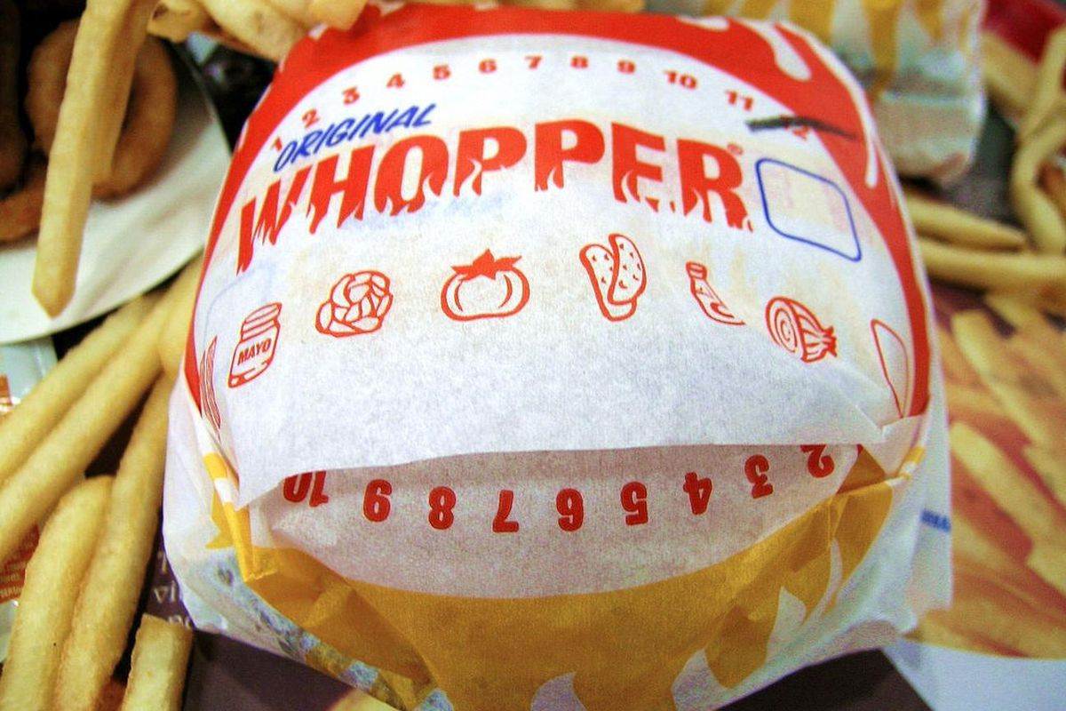 The Whopper in its natural habitat
